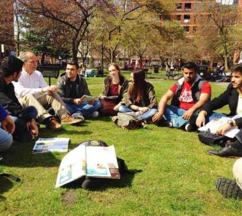 English lessons in London outdoors