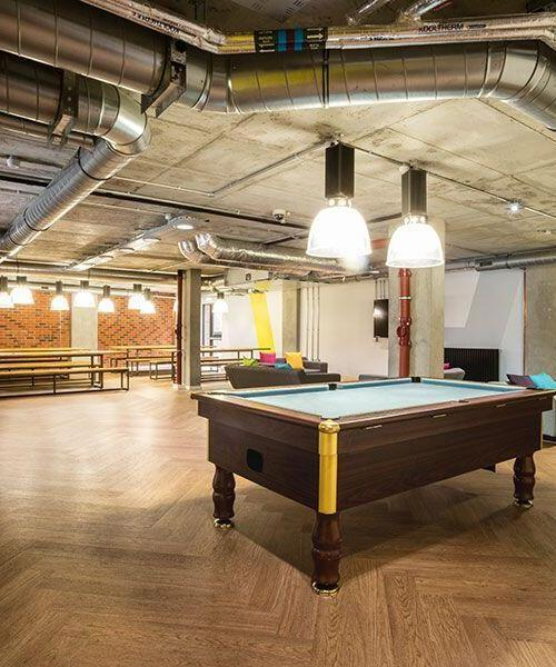 unite st. pancras commonroom pool table malvern house london accommodation